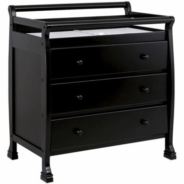 DaVinci Kalani Three Drawer Changer Ebony Black