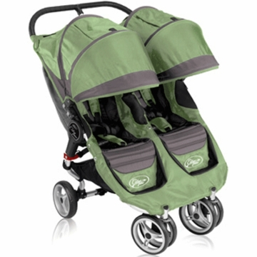 Baby Jogger 2011 City Mini Double in Green/Gray