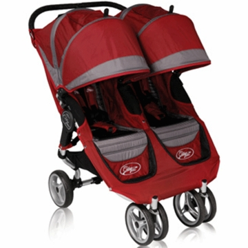 Baby Jogger 2011 City Mini Double in Crimson/Gray