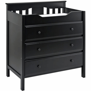 DaVinci Roxanne 3-Drawer Changer Ebony Black