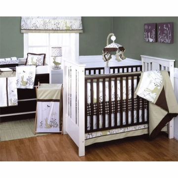 KidsLine Organic Bunny Meadow 6 Piece Crib Bedding Set
