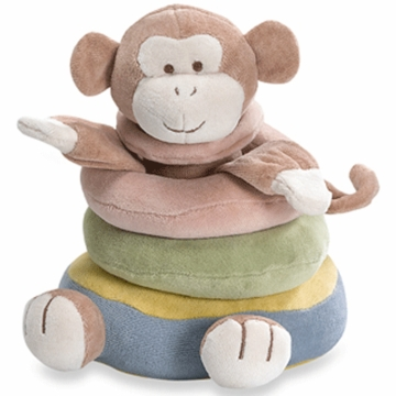 MiYim Simply Organic 3 Ring Monkey Stacker Plush Toy 0-3 Months