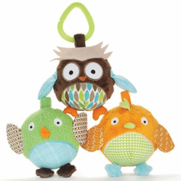 Skip Hop Treetop Friends Owl & Friends Ball Trio