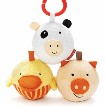 Skip Hop Funky Farmyard Animal Ball Trio
