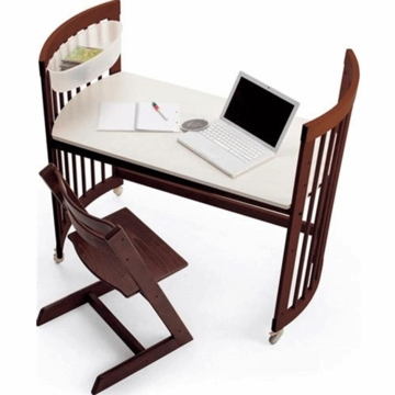 Stokke CARE Desk Kit in Walnut Brown
