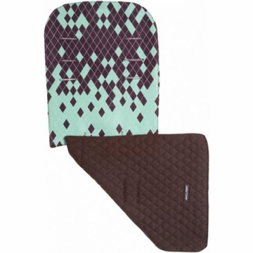 Maclaren Reversible Seat Liner Dripping Diamonds Green/Coffee