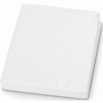 KidsLine Jersey Knit Fitted Crib Sheet in White