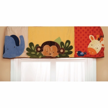 KidsLine Jungle 123 Window Valance