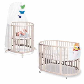 Stokke Sleepi System 1 Bassinet and Crib Set in White
