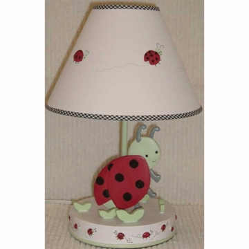 Kids Line Lady Bug Lamp Base with Shade