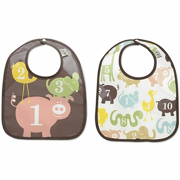 Sugar Booger Numbers Mini Bib Gift Set of 2
