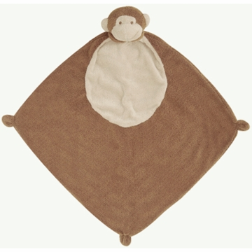 Angel Dear Three of a Kind Dark Brown Monkey Blankies