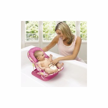 Summer Infant Deluxe Baby Bather Pink - Circle Daisy