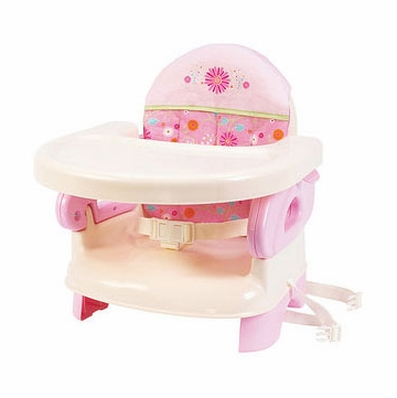 Summer Infant Deluxe Comfort Folding Booster in Pink