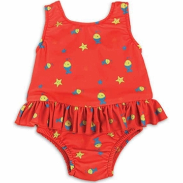 Bambino Mio Swim Suit Nappy Medium in Red Fish (16-21 lbs)