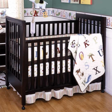 KidsLine My First ABC 6 Piece Baby Crib Bedding Set