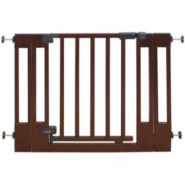 Summer Infant Deluxe Top of Stairs Wood Walk-Thru Gate Cherry