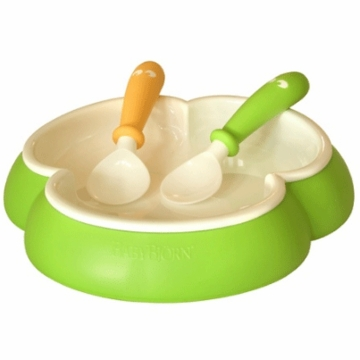 BabyBj�rn Plate and Spoon in Green