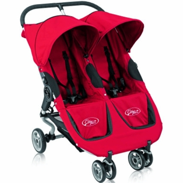 Baby Jogger City Micro Double Stroller in Red