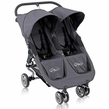 Baby Jogger City Micro Double Stroller in Slate