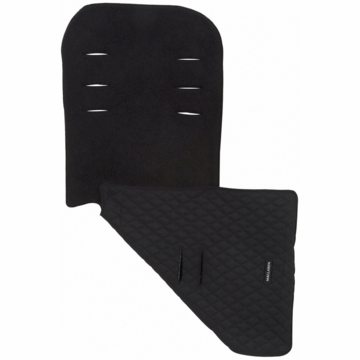 Maclaren Reversible Seat Liner in Fleece Black/Black