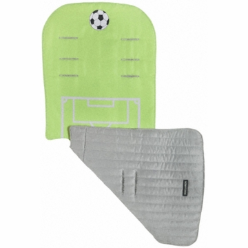 Maclaren Reversible Seat Liner in Sports Fan Soccer - Pea Green