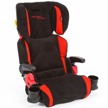 The First Years Compass B570 Pathway Booster Car Seat - Elegance Black & Red