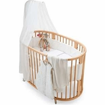 Stokke Sleepi 4 Piece Crib Bedding Set in Classic White
