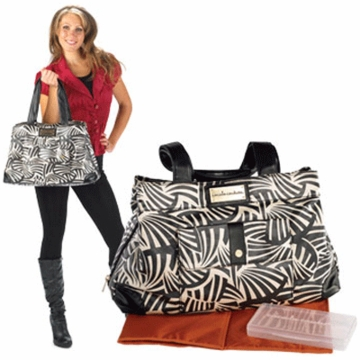 CoCaLo Couture Kayla Satchel Zebrabot Diaper Bag