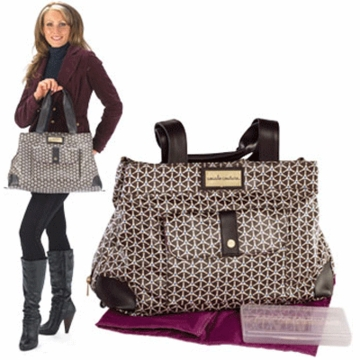 CoCaLo Couture Kayla Satchel Geo Place Diaper Bag