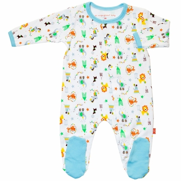 Magnificent Baby Boy's Circus Footie - 3 Months