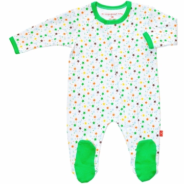 Magnificent Baby Boy's Stars Footie - 3 Months