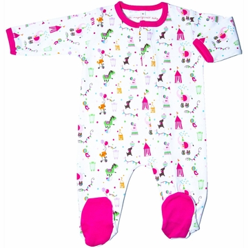 Magnificent Baby Girl's Circus Footie - 3 Months