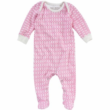 DwellStudio Loops Blossom Long Sleeve Footie Playsuit 0-3 Months