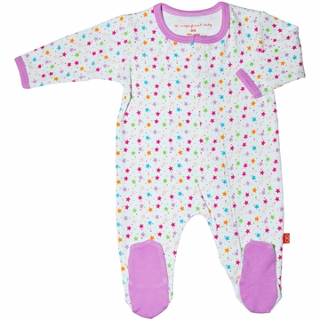 Magnificent Baby Girl's Stars Footie - 3 Months