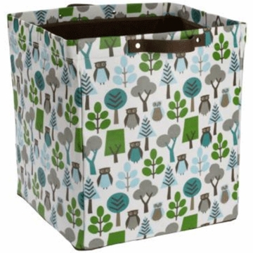 DwellStudio Owls Sky Large Storage Bin