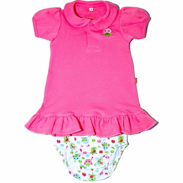 Magnificent Baby Polo Dress with Diaper Cover - 12 Months