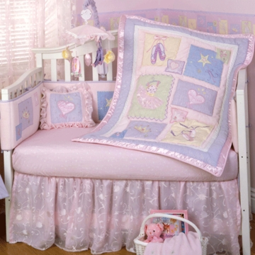 KidsLine En Pointe 6 Piece Crib Bedding Set