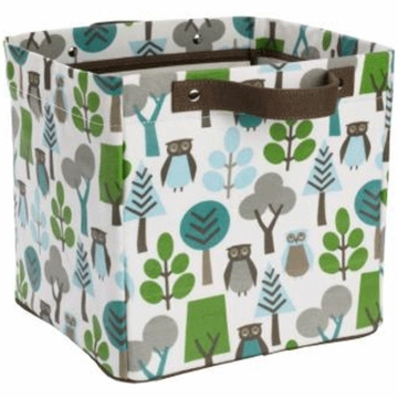 DwellStudio Owls Sky Small Storage Bin