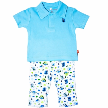 Magnificent Baby Polo Shirt with Pants -  9 Months