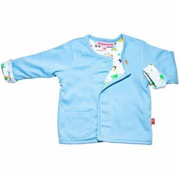 Magnificent Baby Reversible Cardigan - Boy's Circus / Solid - 3 Months