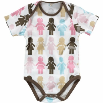 DwellStudio Paper Dolls Petal Short Sleeve Bodysuit 0-3 Months