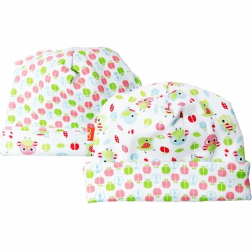 Magnificent Baby Reversible Hat - Girl's Birds / Apple