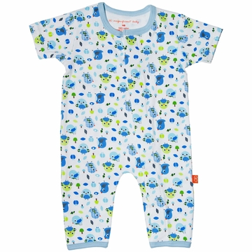 Magnificent Baby Union Suit - Boy's Bird - Newborn