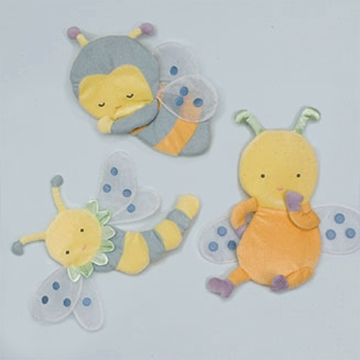 KidsLine Snug As A Bug 3 Piece Wall Hanging