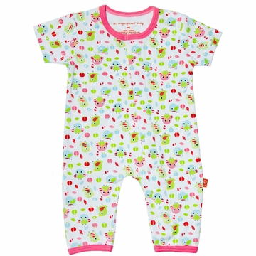 Magnificent Baby Union Suit - Girl's Bird - 6 Months