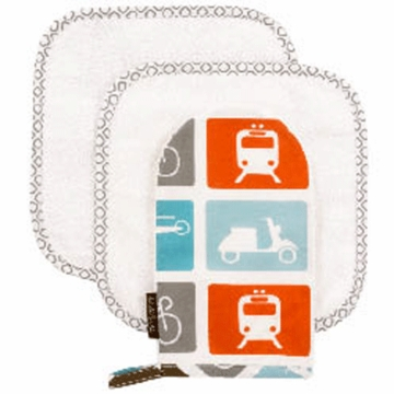 DwellStudio Transportation Multi Wash Cloths &  Mitt Set
