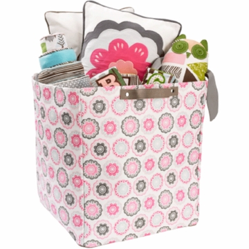 DwellStudio Zinnia Rose Large Storage Bin