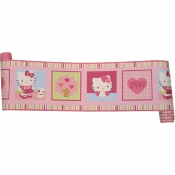 Bedtime Originals Hello Kitty & Puppy Wallpaper Border