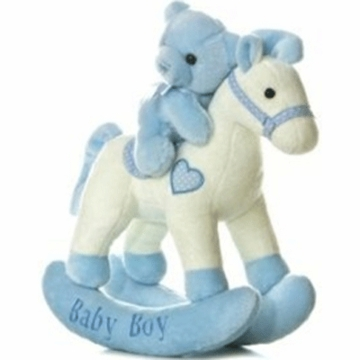 "Aurora 12"" Baby Boy Rocking Horse Musical"